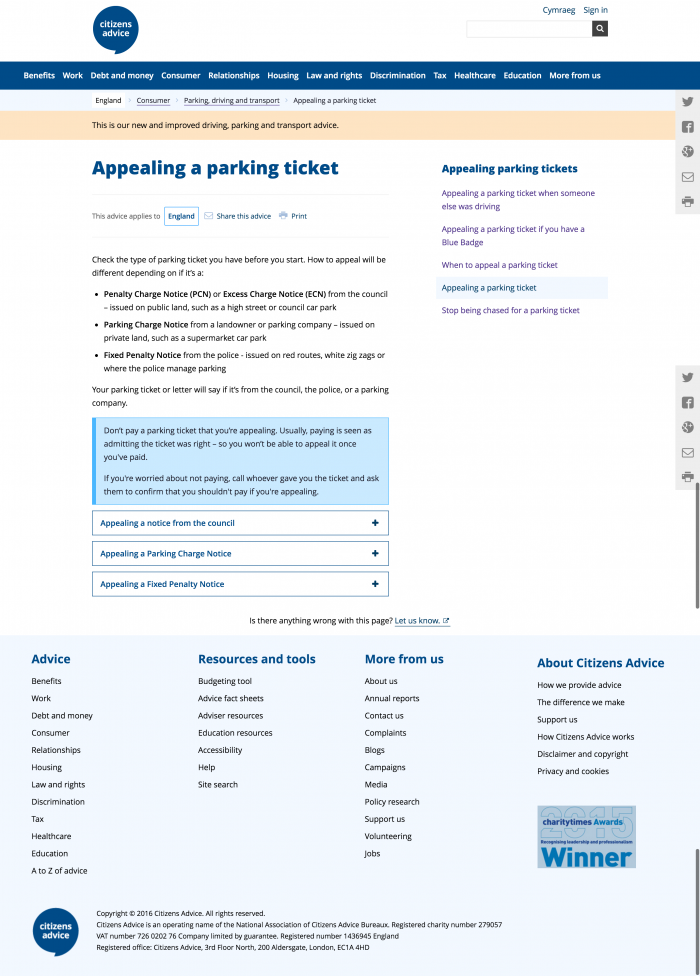 appealing-a-parking-ticket-citizens-advice